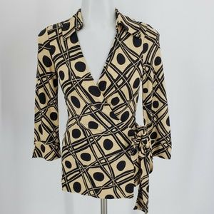 Diane Von Furstenberg Vintage Long Sleeve Blouse